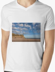The Great Tor on the Gower peninsular Mens V-Neck T-Shirt