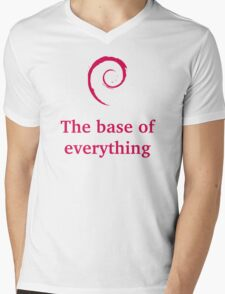 debian - the base of everything Mens V-Neck T-Shirt