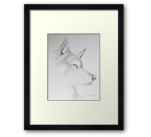 Wolf's Head Framed Print