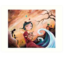 Not An Angel, But a Girl With Wings Art Print