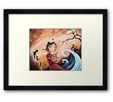 Not An Angel, But a Girl With Wings Framed Print