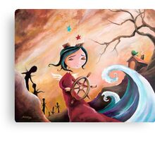 Not An Angel, But a Girl With Wings Metal Print