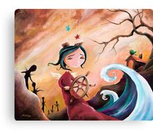 Not An Angel, But a Girl With Wings Canvas Print