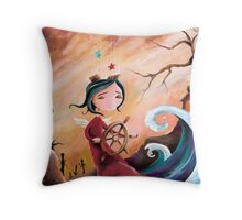 Not An Angel, But a Girl With Wings Throw Pillow