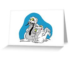 Rick the chick - Daddy croc Greeting Card