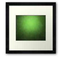 green grunge texture Framed Print