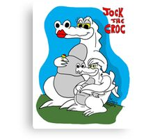 Rick the chick - Mommy croc Canvas Print