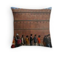 The Line-up Throw Pillow
