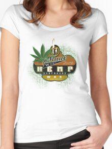 hemp surfboard wax Women's Fitted Scoop T-Shirt
