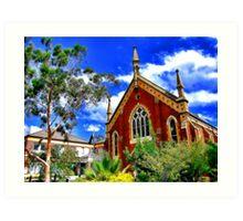 Church. Albury, NSW, Australia. Art Print