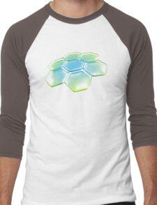 Flower - Blue/Green Men's Baseball ¾ T-Shirt