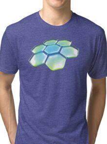 Flower - Blue/Green Tri-blend T-Shirt