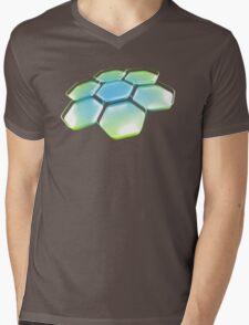 Flower - Blue/Green Mens V-Neck T-Shirt