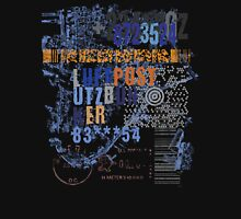 Bar code and stamps post office composition Unisex T-Shirt
