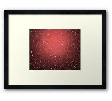 red grunge background Framed Print
