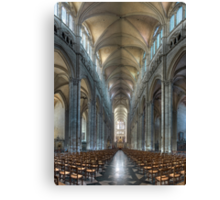 Nave, Amiens Cathedral, Somme, France Canvas Print