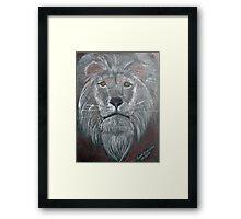 Big Cat Daddy Lion Framed Print