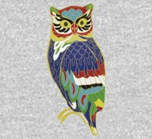 The Colourful Owl of Madness Kids Clothes