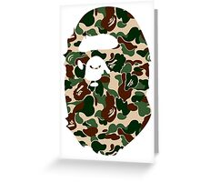 BAPECAMO Greeting Card
