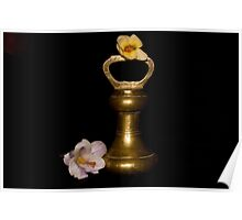 Lilies and Old Brass Weights Poster