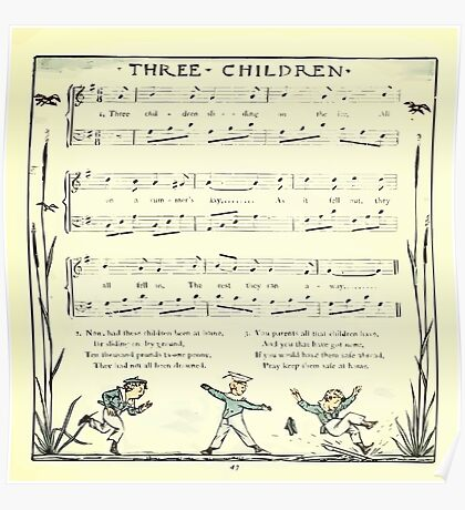The Baby's Opera - A Book of Old Rhymes With New Dresses - by Walter Crane - 1900-51 Three Children Poster