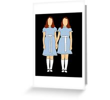 The Shining - Twins Greeting Card
