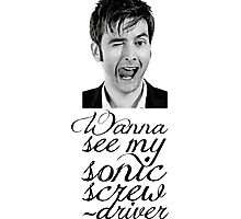 Wanna see my sonic screwdriver? Photographic Print