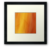 yellow watercolor texture Framed Print