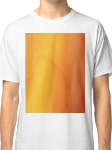 yellow watercolor texture Classic T-Shirt