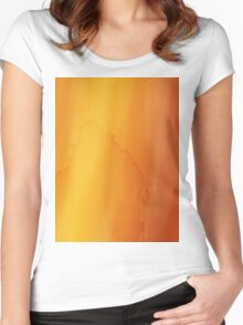 yellow watercolor texture Women's Fitted Scoop T-Shirt