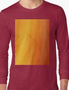 yellow watercolor texture Long Sleeve T-Shirt