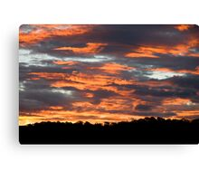 Sky burn Canvas Print