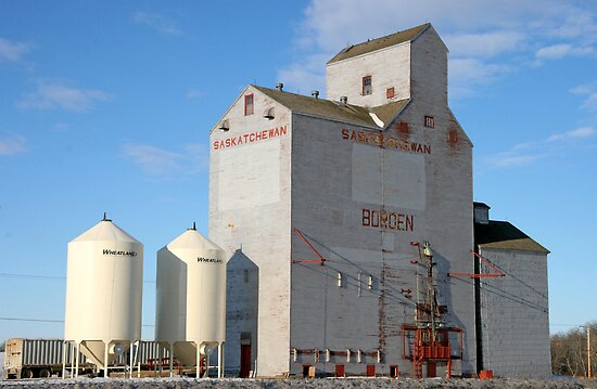 Borden, Saskatchewan Grain Elevator by Vickie Emms