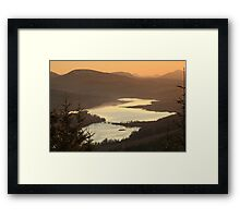 Loch Garry at Sunset Framed Print