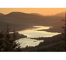 Loch Garry at Sunset Photographic Print
