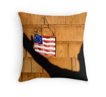 red White and Me Throw Pillow