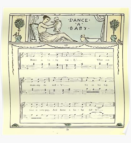 The Baby's Opera - A Book of Old Rhymes With New Dresses - by Walter Crane - 1900-58 Dance A Baby Poster