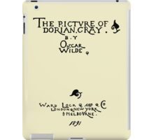 Picture of Dorian Gray 1809 Cover iPad Case/Skin