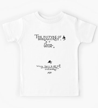Picture of Dorian Gray 1809 Cover Kids Tee