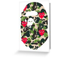 BAPECAMO & HEARTS Greeting Card
