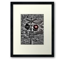 No Crossing Framed Print