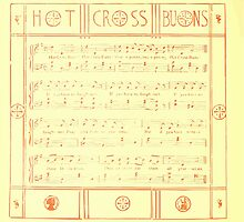 The Baby's Boquet - A Fresh Bunch of Old Rhymes and Tunes - by Walter Crane - 1900-14 Hot Cross Buns by wetdryvac