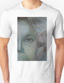 Faces - Right - Portrait In Black And White Unisex T-Shirt