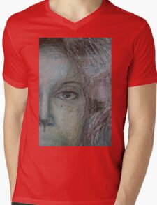 Faces - Right - Portrait In Black And White Mens V-Neck T-Shirt