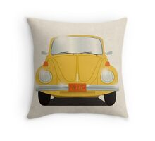 Yellow Beetle Throw Pillow