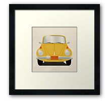 Yellow Beetle Framed Print