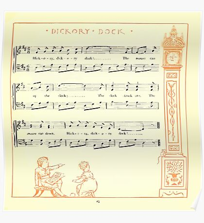 The Baby's Opera - A Book of Old Rhymes With New Dresses - by Walter Crane - 1900-27 Hickory Dickory Dock Poster
