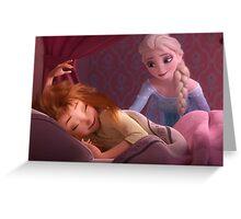 Elsa and Sleepy Anna Greeting Card