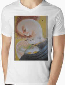 Band Aids - Abstract Portrait Of A Woman Mens V-Neck T-Shirt