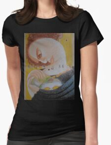 Band Aids - Abstract Portrait Of A Woman Womens Fitted T-Shirt